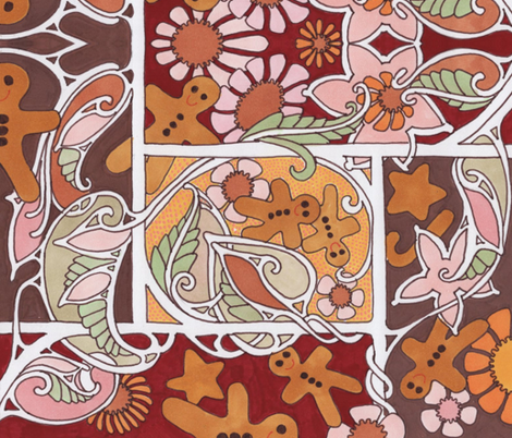 Lookie, A Cookie fabric by edsel2084 on Spoonflower - custom fabric