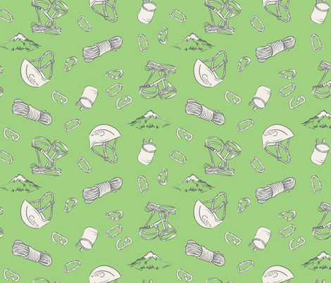 Climb Outside - Green fabric by open_face_sandwich on Spoonflower - custom fabric