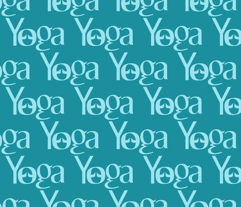 Yoga Namaste fabric by lesrubadesigns on Spoonflower - custom fabric