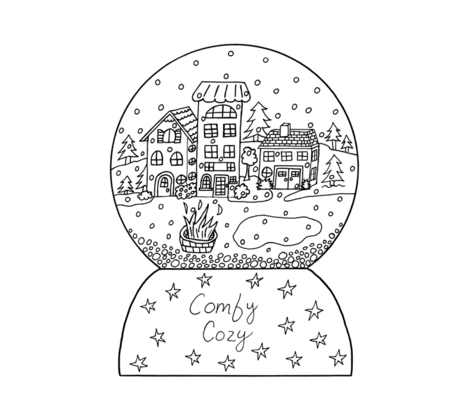 coloring_page_spoonflower_comfy_cozy_snowglobe_small-ch fabric by the_awkward_bird on Spoonflower - custom fabric