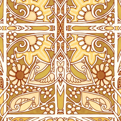 Edwardian Gothic fabric by edsel2084 on Spoonflower - custom fabric