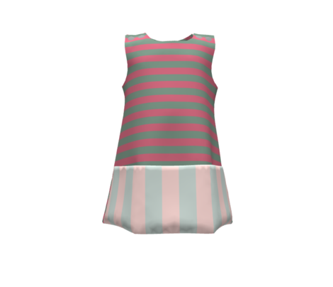 stripes-powder pink and gray