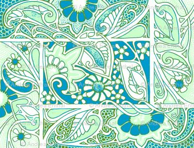 Blue Green Nouveau Basket Case