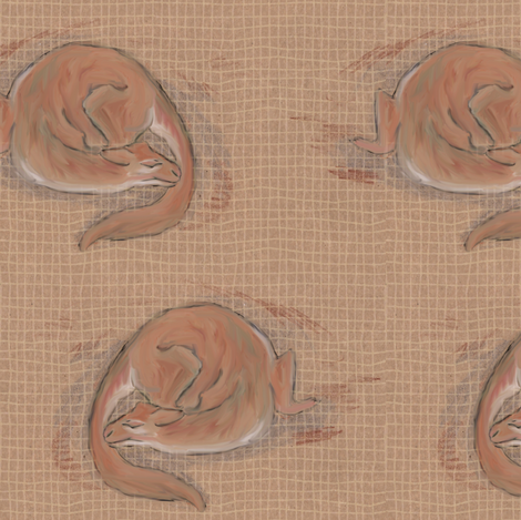 Adoptable Cat Dragon fabric by eclectic_house on Spoonflower - custom fabric