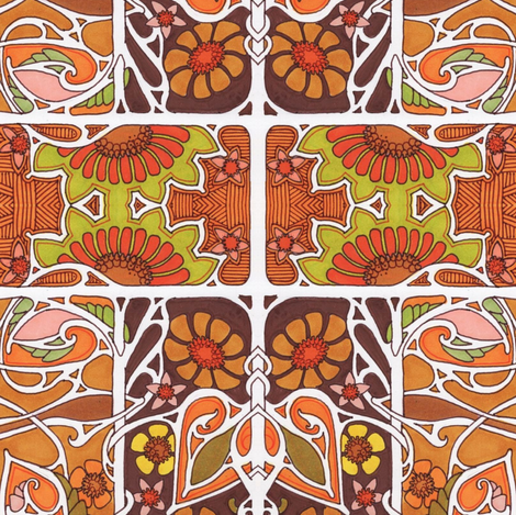 The Oranges of Autumn fabric by edsel2084 on Spoonflower - custom fabric