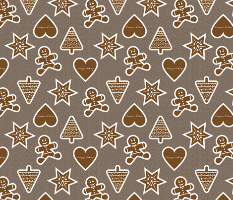 gingerbread  fabric by verergmatltd on Spoonflower - custom fabric