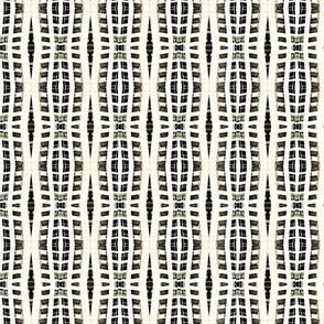 Modern Skyscaper Weave Black and Cream