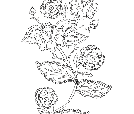 Vintage floral fabric by mini_mina on Spoonflower - custom fabric