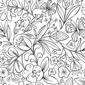 Enchanted Garden Coloring Book Floral
