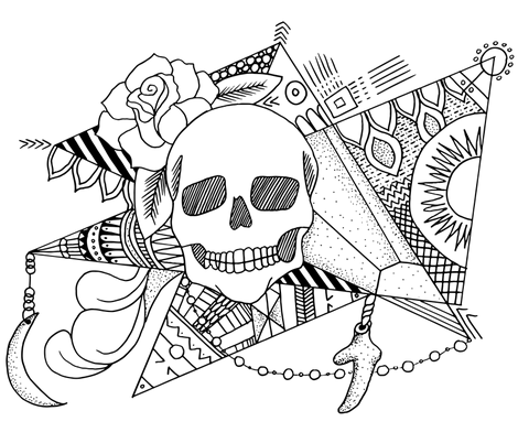 Macabre Magic fabric by lydesign on Spoonflower - custom fabric