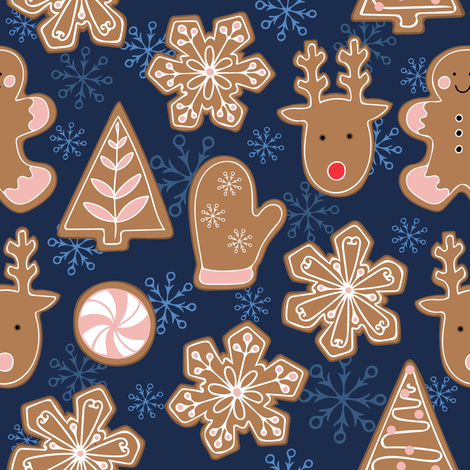 Christmas Gingerbread Cookies fabric by twix on Spoonflower - custom fabric
