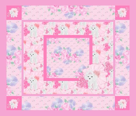 "48""x 36""  Quilt Panel - Yorkie Gingham fabric by sherry-savannah on Spoonflower - custom fabric"
