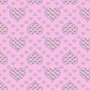 Yorkie - Hearts & Gingham