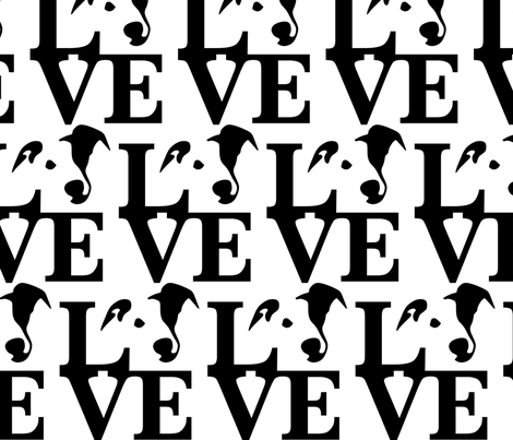 Whippet LOVE Medium fabric by mariafaithgarcia on Spoonflower - custom fabric