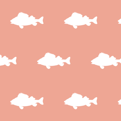 fish run on Coral fabric by buckwoodsdesignco on Spoonflower - custom fabric