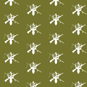 Hunting/Fishing Buck - Moss green