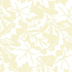 Fall Leaf Background Pattern Ivory