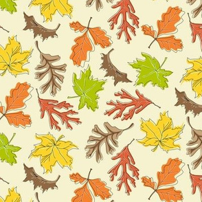 Fall Leaf Mini Toss Ivory