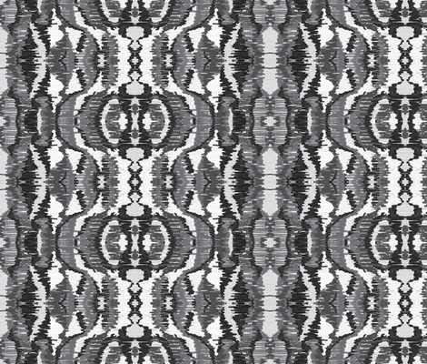 Storm as Black White Abstract Drawing-ch fabric by palusalu on Spoonflower - custom fabric