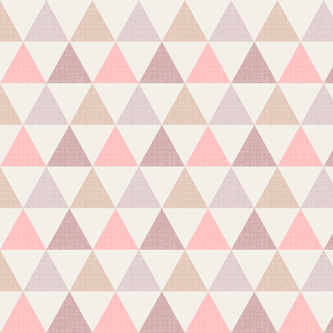 Textured Triangles Pink (small) fabric by kimsa on Spoonflower - custom fabric
