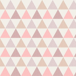 Textured Triangles Pink (small)