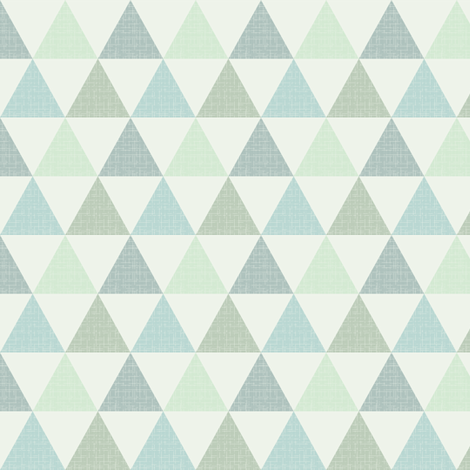 Textured Triangles Blue Green (small) fabric by kimsa on Spoonflower - custom fabric