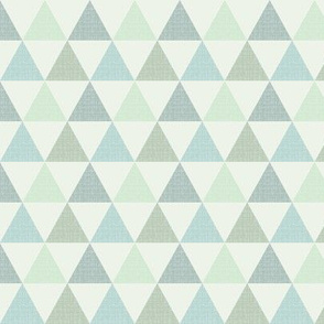 Textured Triangles Blue Green (small)