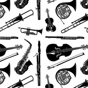 Musical Instruments // Black & White