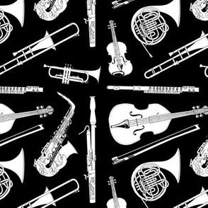 Musical Instruments // White & Black