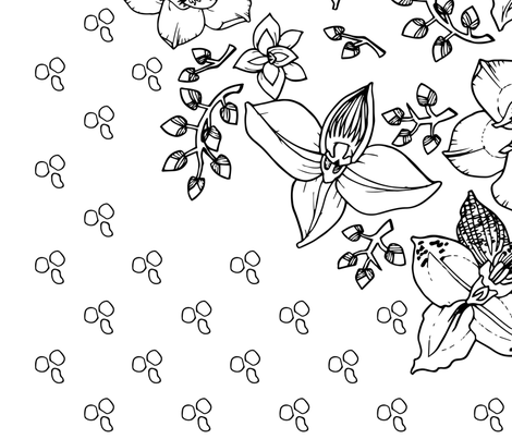 Orchids_and_Tea fabric by shazlin_jalil on Spoonflower - custom fabric