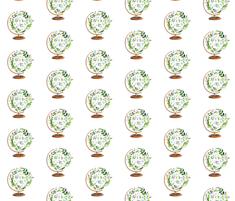 """7"""" Floral Globe / Mix and Match Print fabric by shopcabin on Spoonflower - custom fabric"""