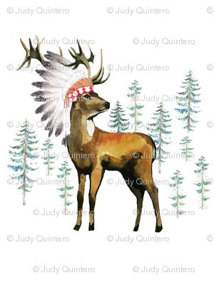 """54""""x72"""" Aztec Deer"""