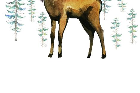 "54""x72"" Aztec Deer fabric by shopcabin on Spoonflower - custom fabric"