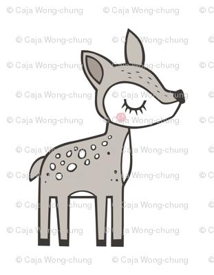 Deer Pillow Plush Plushie Softie Cut & Sew Mirror