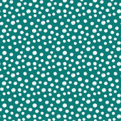 White Peas on Blue Green fabric by jacquelinehurd on Spoonflower - custom fabric