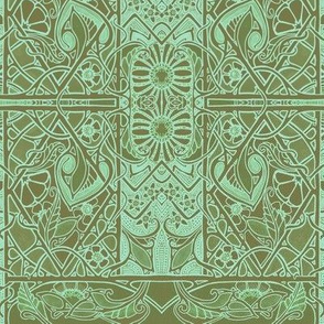 Boldly Green and Khaki