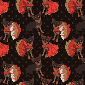 Chihuahua Black & Tan in Poppy