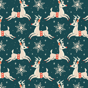 Reindeer (Dark Blue)