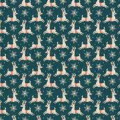 Small Reindeer (Dark Blue)