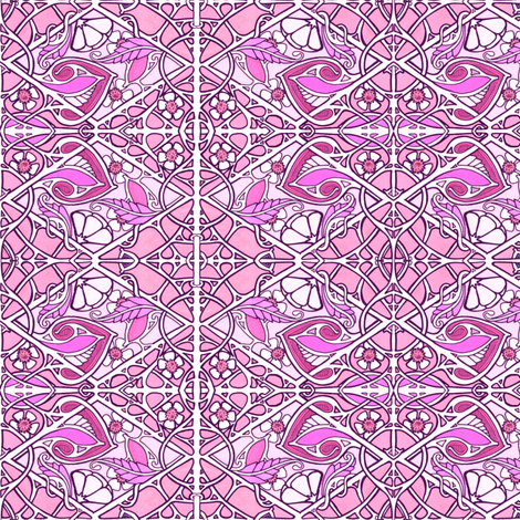 Do the Diamond Studded  Valentine Twist fabric by edsel2084 on Spoonflower - custom fabric