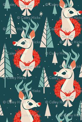 Woodland Reindeer (Dark Blue)