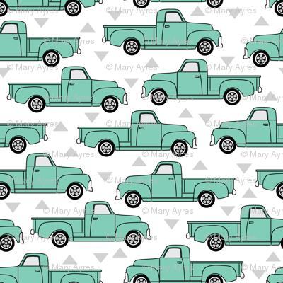 mint green trucks