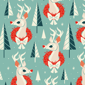 Woodland Reindeer (Light Blue)