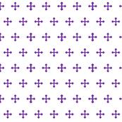 Greek Cross in Purple-ed