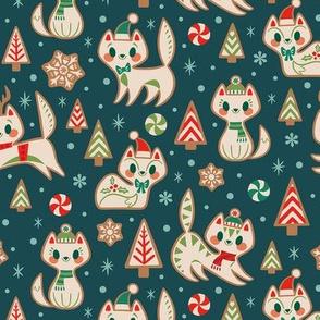 Gingerbread Kitties (Blue)