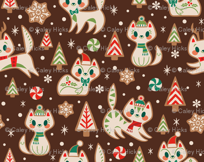 Gingerbread Kitties (Brown)