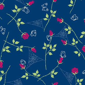 Gossamer and petals - navy