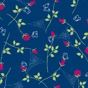 Gossamer and petals - navy
