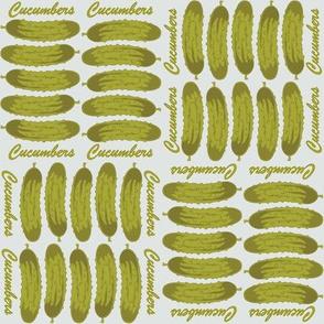 Cucumbers (silver)