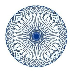 Spirograph No. 5 in Royal Blue
